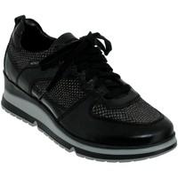 Zapatos Mujer Zapatillas bajas Mephisto Vicky Cuero negro/pitón