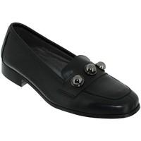 Zapatos Mujer Mocasín Folies Enora Cuero negro