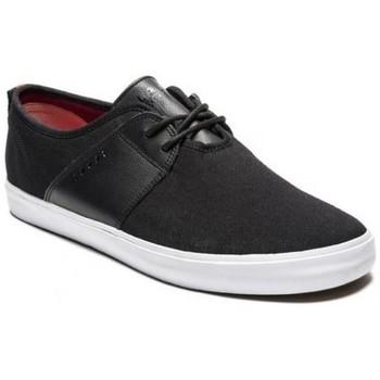 Zapatos Hombre Zapatos de skate Lakai albany black canvas Noir