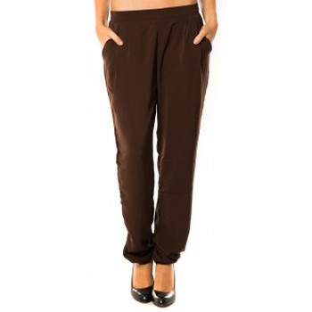 textil Mujer Pantalones de chándal Dress Code Pantalon R9771 Marron Marrón