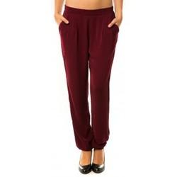 textil Mujer Pantalones de chándal Dress Code Pantalon R9771 Bordeaux Rojo