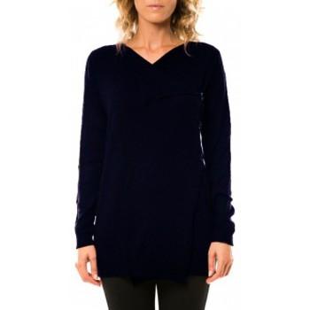 textil Mujer Chaquetas de punto Vero Moda Norma Copenhagen LS Drapey Cardigan 10111324 Marine Azul