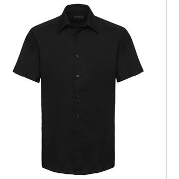 textil Hombre Camisas manga corta Russell 923M Negro