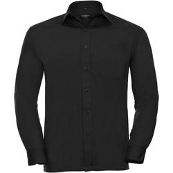 textil Hombre Camisas manga larga Russell 934M Negro