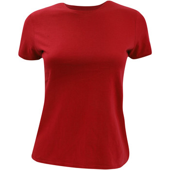 textil Mujer Camisetas manga corta B And C TW012 Rojo