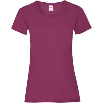 textil Mujer Camisetas manga corta Fruit Of The Loom 61372 Burdeos