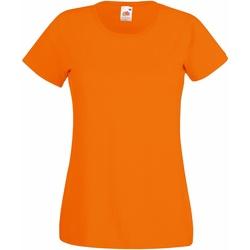 textil Mujer Camisetas manga corta Fruit Of The Loom 61372 Naranja