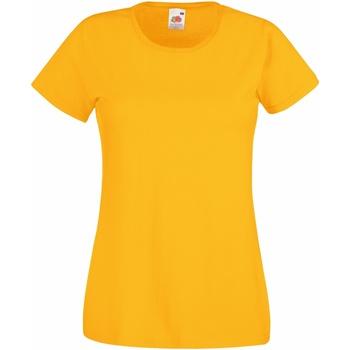 textil Mujer Camisetas manga corta Fruit Of The Loom 61372 Amarillo Oscuro