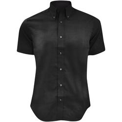 textil Hombre Camisas manga corta Kustom Kit KK187 Negro