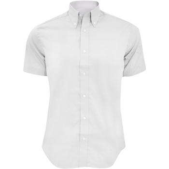 textil Hombre Camisas manga corta Kustom Kit KK187 Blanco