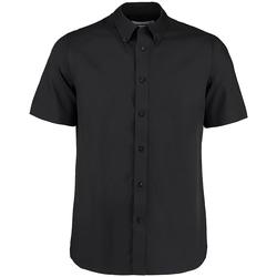 textil Hombre Camisas manga corta Kustom Kit KK385 Negro