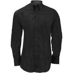 textil Hombre Camisas manga larga Kustom Kit KK386 Negro