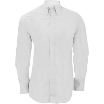 textil Hombre Camisas manga larga Kustom Kit KK386 Blanco