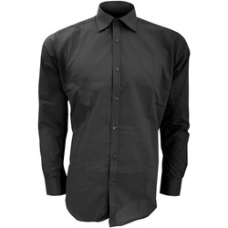textil Hombre Camisas manga larga Kustom Kit KK192 Negro