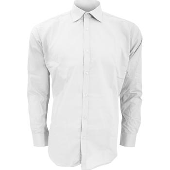 textil Hombre Camisas manga larga Kustom Kit KK192 Blanco