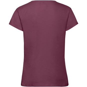 textil Niña Camisetas manga corta Fruit Of The Loom 61017 Vino