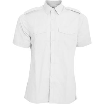 textil Hombre Camisas manga corta Kustom Kit KK133 Blanco