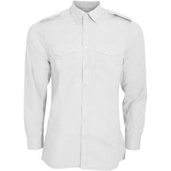 textil Hombre Camisas manga larga Kustom Kit KK134 Blanco