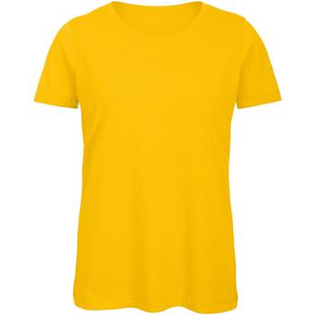 textil Mujer Camisetas manga corta B And C TW043 Oro