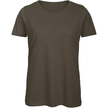 textil Mujer Camisetas manga corta B And C TW043 Caqui