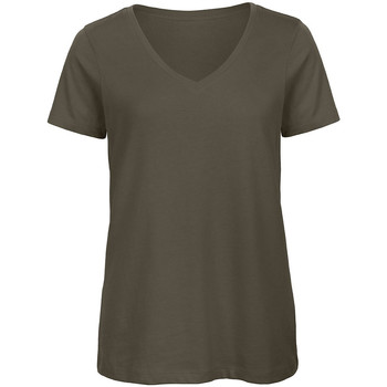 textil Mujer Camisetas manga corta B And C Organic Caqui