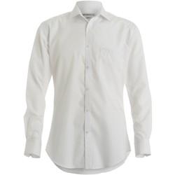 textil Hombre Camisas manga larga Kustom Kit KK113 Blanco