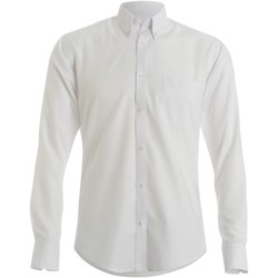 textil Hombre Camisas manga larga Kustom Kit KK139 Blanco
