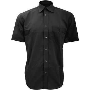 textil Hombre Camisas manga corta Kustom Kit KK102 Negro