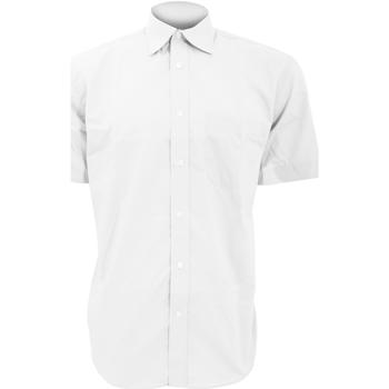 textil Hombre Camisas manga corta Kustom Kit KK102 Blanco