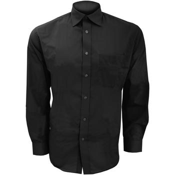 textil Hombre Camisas manga larga Kustom Kit KK104 Negro