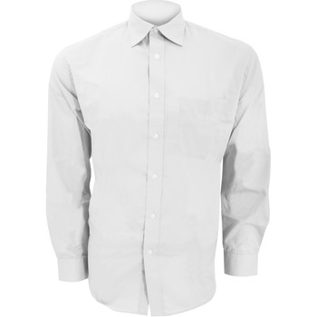 textil Hombre Camisas manga larga Kustom Kit KK104 Blanco