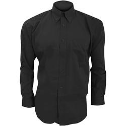 textil Hombre Camisas manga larga Kustom Kit KK105 Negro