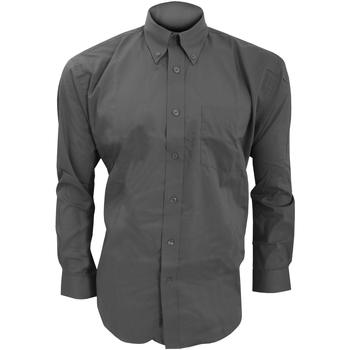 textil Hombre Camisas manga larga Kustom Kit KK105 Carbón