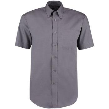 textil Hombre Camisas manga corta Kustom Kit KK109 Carbón
