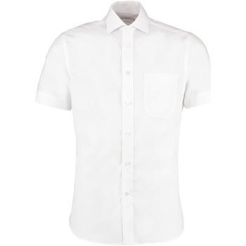 textil Hombre Camisas manga corta Kustom Kit KK115 Blanco