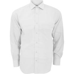 textil Hombre Camisas manga larga Kustom Kit KK116 Blanco