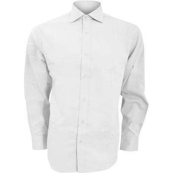 textil Hombre Camisas manga larga Kustom Kit KK118 Blanco