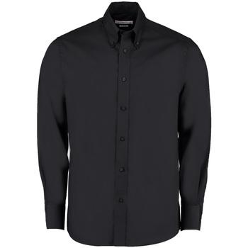 textil Hombre Camisas manga larga Kustom Kit KK131 Negro