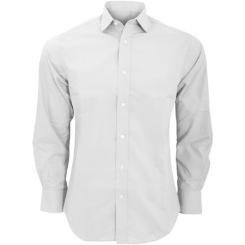 textil Hombre Camisas manga larga Kustom Kit KK131 Blanco