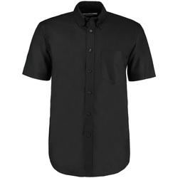 textil Hombre Camisas manga corta Kustom Kit KK350 Negro