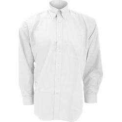 textil Hombre Camisas manga larga Kustom Kit KK351 Blanco