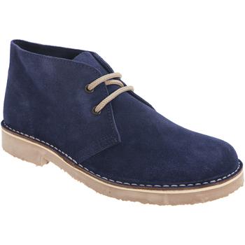 Zapatos Mujer Botas de caña baja Roamers Round Toe Azul marino