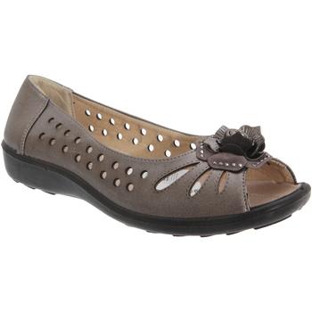 Zapatos Mujer Bailarinas-manoletinas Boulevard  Gris metalizado