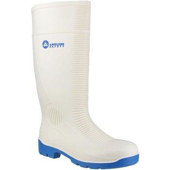 Zapatos Hombre zapatos de seguridad  Amblers FS98 Safety White Wellingtons Blanco