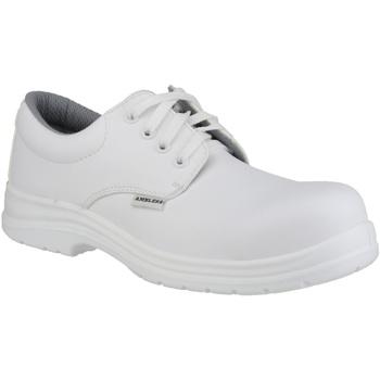 Zapatos Hombre Derbie Amblers FS511 White Safety Shoes Blanco