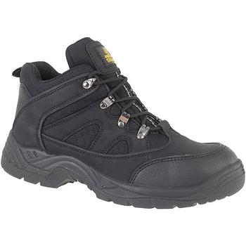 Zapatos Hombre zapatos de seguridad  Amblers FS151 BLACK MID BOOT SB-P Negro