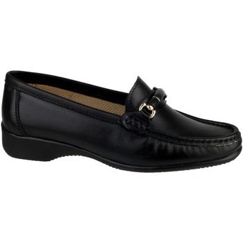Zapatos Mujer Mocasín Cotswold Barrington Negro