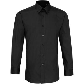 textil Hombre Camisas manga larga Premier PR204 Negro