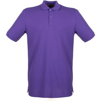 textil Hombre Polos manga corta Henbury HB101 Púrpura