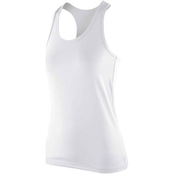 textil Mujer Camisetas sin mangas Spiro SR281F Blanco